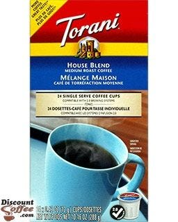 Torani House Blend Coffee 24 cups per box | 2.0 Compatible with Keurig® K-Cup® Coffee Makers.