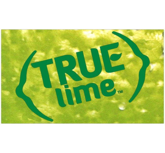 True Citrus | True Lime 100 Packet Dispenser, Fresh Squeezed Unsweetened Natural Lime Juice Fruit Flavor, Made in U.S.A.