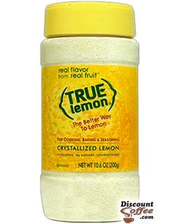 True Lemon 10.6. oz. Shaker | Gluten Free, Non-GMO Crystallized Lemon Juice Substitute for Cooking, Baking, Seasoning
