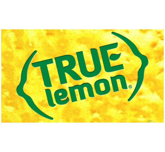 True Lemon | 100 Packet Dispenser Box, Natural Lemon Flavoring for Tea, Water & Beverage Drinks