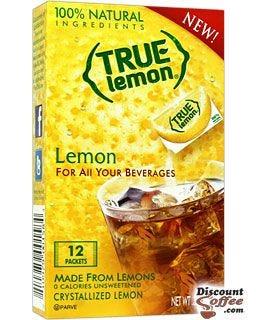 True Lemon, Real Lemon Juice Flavor for water, tea, beverages.