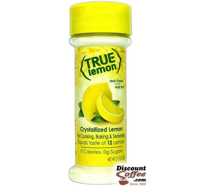 True Lemon 2.12 oz. Shaker | Crystallized Lemon Juice Substitute, Non-GMO, Gluten Free, Seasoning, Cooking, Baking