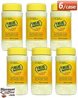 True Lemon Food Service Shaker Case, 6 count. Non-GMO Lemon Juice Substitute. Cooking Recipes, Baking, Seasoning.