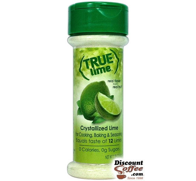 True Lime 2.29 oz. Shaker | Cooking, Baking, Seasoning Recipes, Gluten Free, Non-GMO Lime Juice Substitute for Restaurants, Kitchens, Buffets.