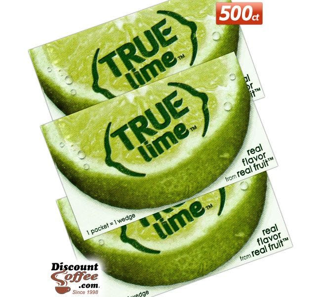 True Lime 500 Foodservice Packets | Crystallized Lime Juice Substitute, Bars, Mixed Drinks, Beverages, Restaurants, Buffets.