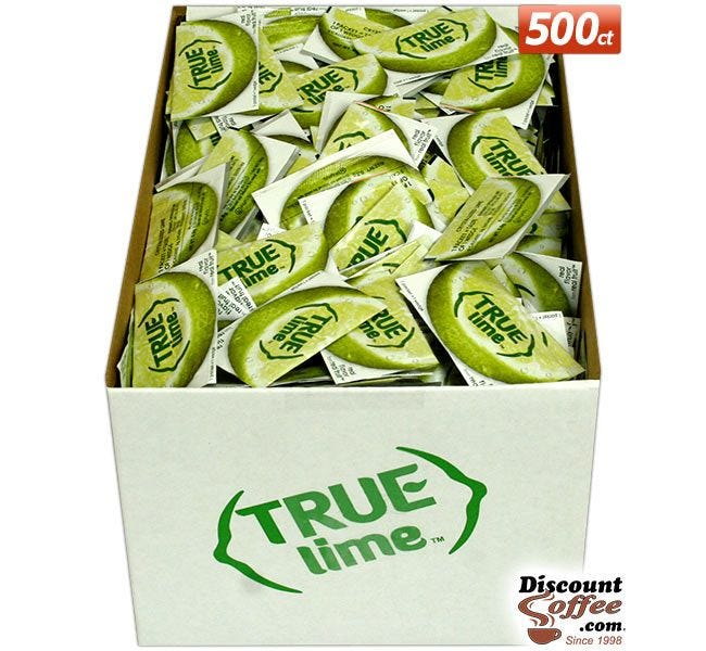 True Lime Packets 500 ct. Foodservice Bulk Case | Restaurants, Bars, Kitchens, Juice Recipes, Cooking, Baking.