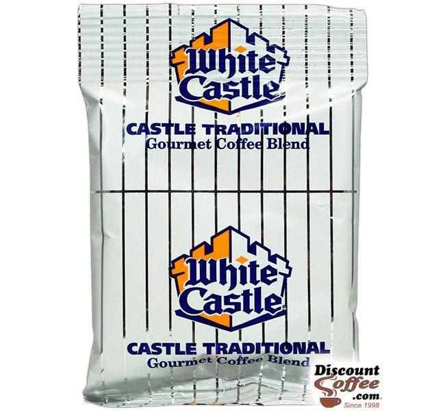 White Castle Ground Coffee 1.25 oz. Bag | Medium Roast Restaurant Coffee, 40 ct. Foodservice Case.