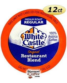 100% Arabica Medium Roast White Castle Single Cup Restaurant Blend Coffee, Single Serve Cups