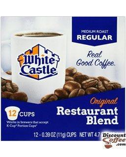 White Castle Restaurant Blend Ground Coffee, 100% Arabica Medium Roast White Castle Single Cup Pods