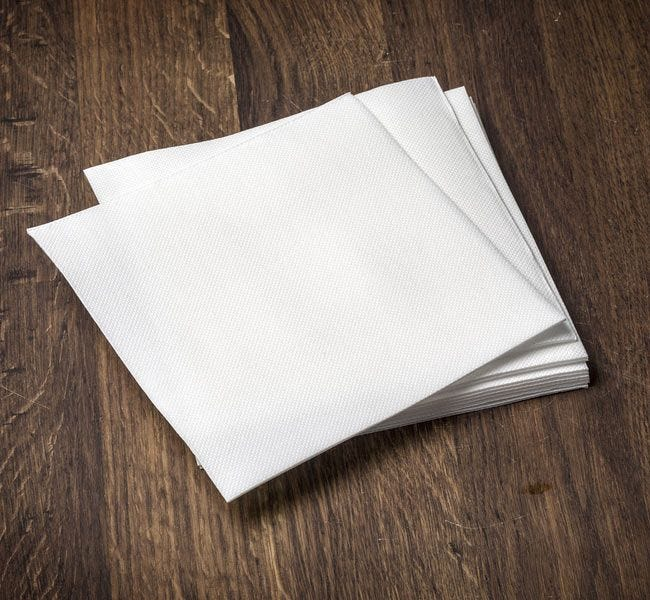 White Paper Lunch Napkins   1/4 Fold 11.5