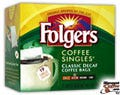 Decaf Classic Roast Folgers Coffee Singles 19/Box