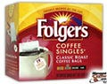 Classic Roast Folgers Coffee Singles 19/Box