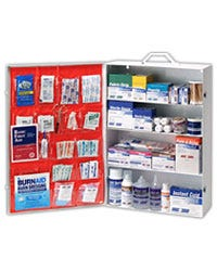 50+ Person Green Guard First Aid Cabinet