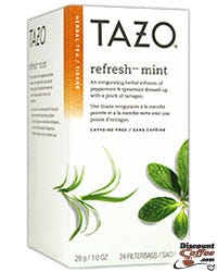 Tazo Refresh Herbal Infusion Tea Filterbags / Sachets KSA Kosher Certified