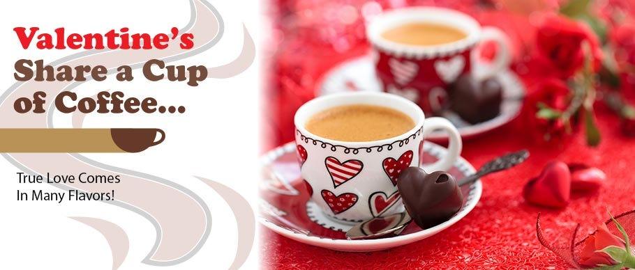 Valentine's Day Coffee Cups, Love Flavored Coffee, Cappuccino, Tea, Creamer |  DiscountCoffee.com
